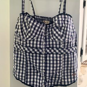 Hollister Corset style top